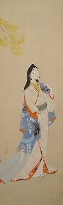#0845 Japanese Hanging Scroll: Beauty in Kimono