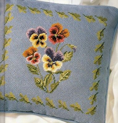 Tapestry chart. Pansy cushion by Stitchery