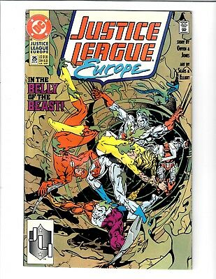 Justice League Europe In The Belly Of The Beast #25 Apr 1991 Dc Comics.#97224A.