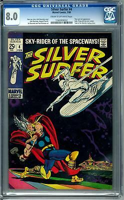 Silver Surfer #4 CGC 8.0 (C-OW) Classic Cover
