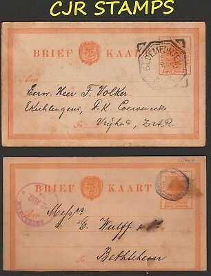 South Africa -  Orange Free State  1884 & 1893  Post Cards