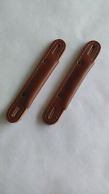 Brown Deluxe Leather Trunk Handles