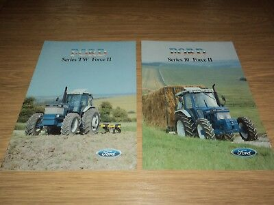 Ford Tractor Brochures (2) Series 10 And Series Tw Force (Massey Ferguson)