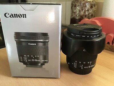 CANON EF-S 10-18mm F/4.5-5.6 IS STM Wide Angle Lens With Hood