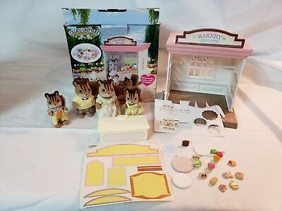 Calico Critters Sylvania Families Bakery Sweets and Gifts Shop Retired Squirrels