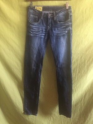 Junior's/women's Distressed  Machine Jeans Made In Italy Size 26W