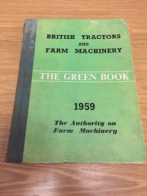 The Green Book 1959 Tractor Ferguson Fordson K.f.d. County David Brown 50D