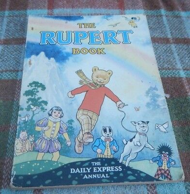 Original 1948 Daily Express Rupert Bear Annual, Price Unclipped Good Condition.