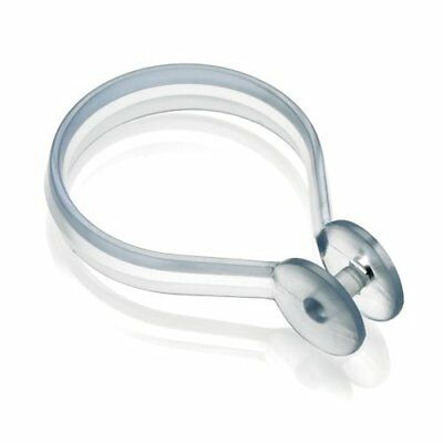 Clear Shower Curtain Button Rings, Pack of 12, Clear