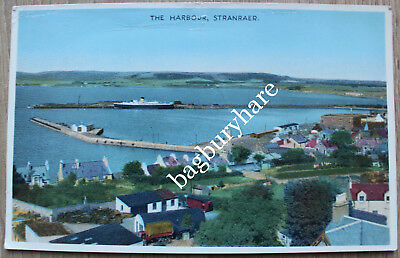 Postcard: The Harbour, Stranraer. Dennis. Posted to Salisbury, Wiltshire, 1957.