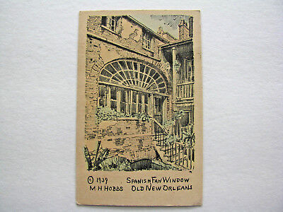 Louisiana LA New Orleans Spanish Fan Window Postcard Old Vintage Card View Post