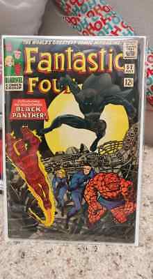 Fantastic Four 52 1st appearance of Black Panther! 4.5-5.0 unrestored! Awesome!!
