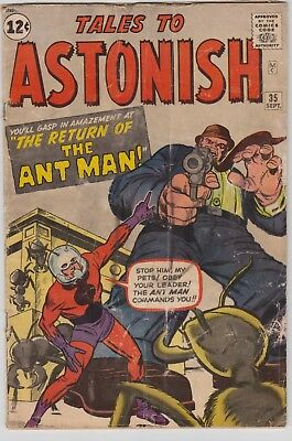 TALES TO ASTONISH #35, 1st ANT-MAN Costume, cents issue