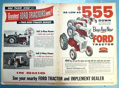 Centerfold Original 1955 Ford Tractor Ad TWO POWER SERIES 3 PLOW 800, 2 PLOW 600