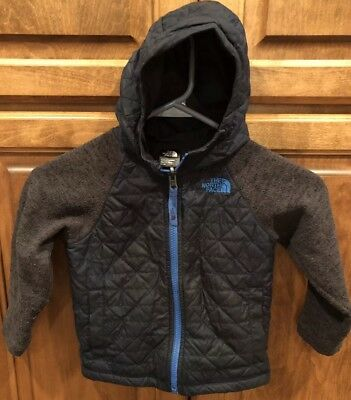 Size 3T Kids Boys Toddler THE NORTH FACE Blue Grey Zip Lightweight Jacket Layer