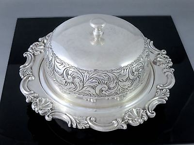 Antique Repousse SHEFFIELD REPRODUCTION 3pc Silverplate MUFFIN WARMER DISH