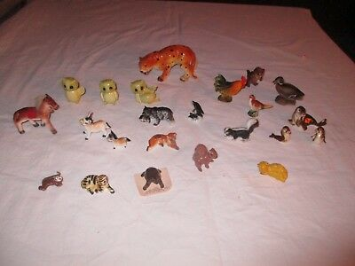 "MAINLY MINIATURE ANIMAL FIGURINE LOT 1"" to 5"" tiger seal horse JAPAN ?porcelain"