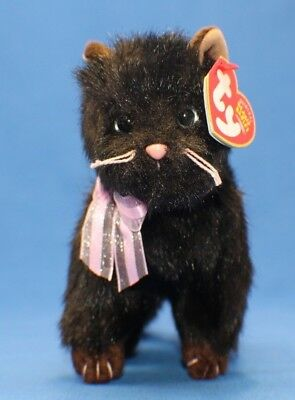 Ty Beanie Baby Babies ~ HEIRESS the BLACK CAT ~ Plush ~ 2004 ~ MWMTs ~ Retired