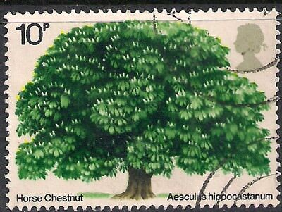 GB 1974 QE2 10p British Trees Horse Chestnut used  stamp SG 949 ( A1460 )