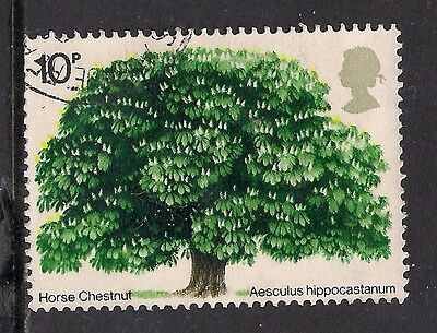 GB 1974 QE2 10p British Trees ( 2nd issue) used stamp ( A1184 )