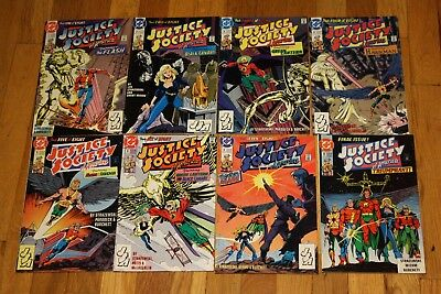 Justice Society of America (1991 1st Series) #1-8 Set Complete Run 1991