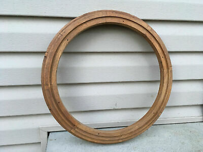 "Vintage 17"" Oak Clock Frame For Parts / Repair ML433"