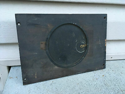 Vintage Mantle Clock Back Panel with Door For Parts / Repair ML435