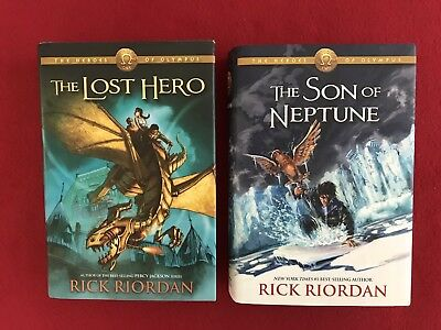 Rick Riordan The Heroes of Olympus Books 1-2 Hardcover 1st Edition 1st Printing