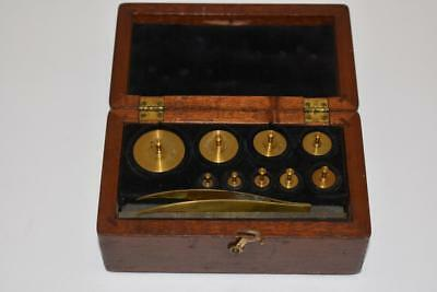 VINTAGE Central Scientific Co  Laboratory Balance Scale Weight Set 1-100 grams