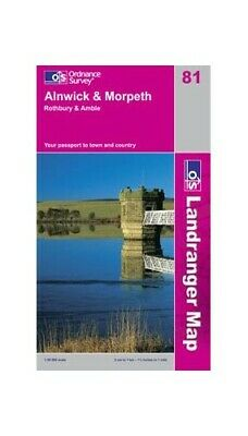 Alnwick & Morpeth, Rothbury & Amble OS L... by Ordnance Survey Sheet map, folded