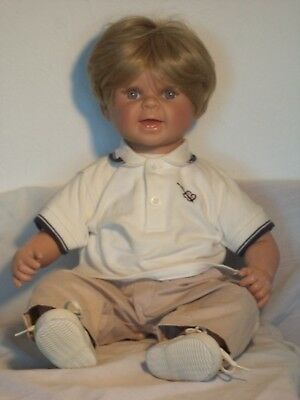 """1990 Geppeddo's """" My Way babies"""" Boy Doll """" Realistic Weighted"""