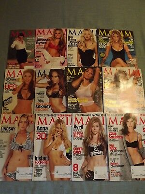 Maxim Magazines Complete Year 2010 Lot Of 12