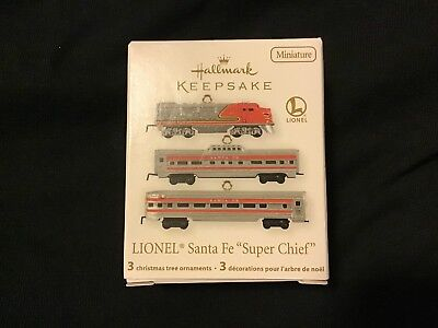 Hallmark Keepsake Lionel Santa Fe Super Chief Miniature Ornaments 2011 NIB