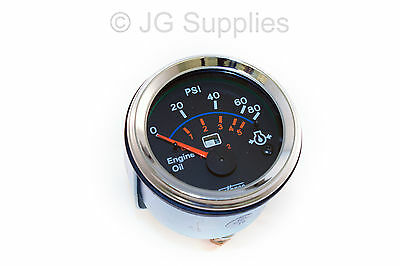 Oil Pressure chrome bezel gauge 52mm smart  0-80 Psi / 0-5 Bar