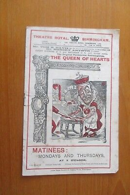 Antique Theatre Royal Birmingham The Queen Of Hearts George Robey