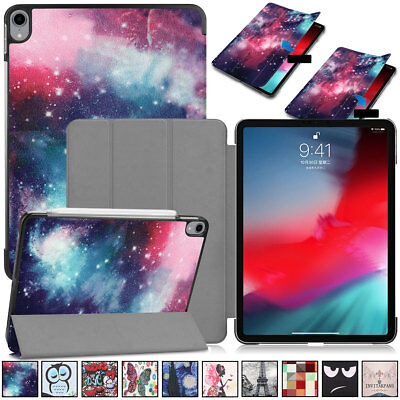 For Apple iPad Pro 11 inch 2018 Pattern Leather Magnetic Hard Rugged Case Cover
