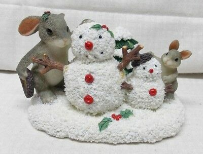 Just the Right Size Charming Tails Bunnies Building Snowmen Big and Small