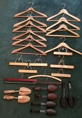 LL Bean and misc. Wood Coat & Pants Hangers & Wood / Plastic Shoe Trees