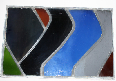 """Vintage Stained Glass Window - 15"""" X 23"""""""