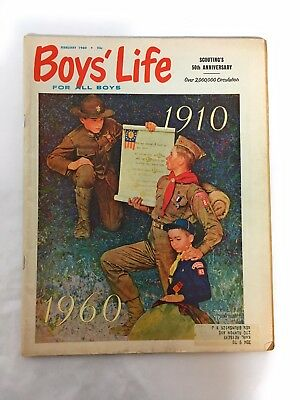 NORMAN ROCKWELL Cover BOYS LIFE MAGAZINE February 1960 Vtg Boy Scouts Full Issue