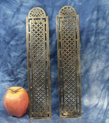 Antique Pair of  brass door finger plates door pushes.