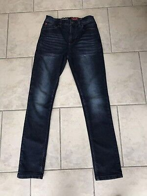Trendy Boys blue skinny NEXT Jeans size 12 years Adjustable Waist