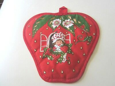 Strawberry Shortcake Potholder NEW American Greetings 1980 label -Collector Item