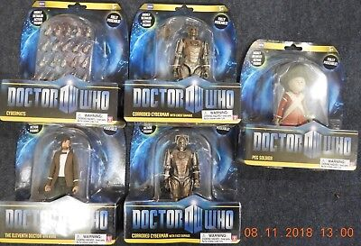 """Dr Who 6"""" Figure Fully Poseable Full Set Of 5 Figures Offer"""