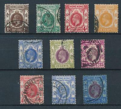 [30043] Hong Kong 1912/21 Good lot Very Fine used stamps