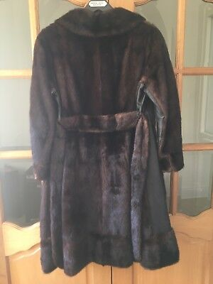Amazing luxurious full length Ranch mink fur coat size10/12 Excellent condition