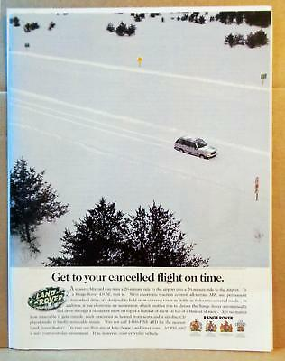 1996 Range Rover Snow Humor Get to Your Cancelled Flight on Time Photo Print AD