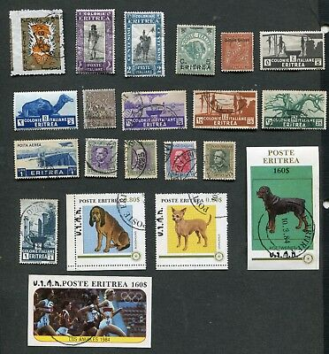 Stamp Lot Of Eritrea , Mh And Used
