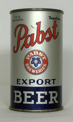Pabst Export Beer 12 oz. Flat Top Beer Can-Opening Instructions, Patents Pending