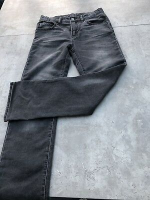Boys Black/grey Jeans From Gap Age 12 Years Excellent Condition